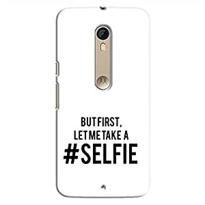 Cover It Up Selfie First Hard Case For Moto X Style - White & Black