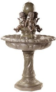 50'' Bronze Finish Baby Angels Cherub Sculpture Statue Fountain
