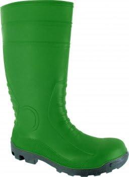 Triuso botas de seguridad S5 colour verde/Negro - de seguridad-PVC - 38 cm botas de seguridad botas botas de goma botas de zapatos jardín de goma botas de goma: Amazon.es: Zapatos y