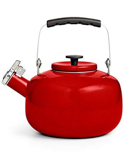 - Martha Stewart Collection 2-Qt. Enamel on Steel, Whistling Tea Kettle (2-Qt, Strawberry Red)
