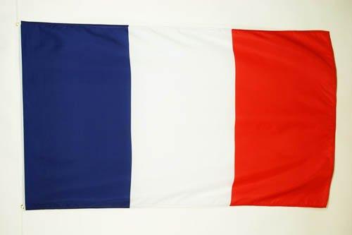 AZ FLAG France Flag 5' x 8' - French Big Flags 150 x 250 cm - Banner 5x8 ft -