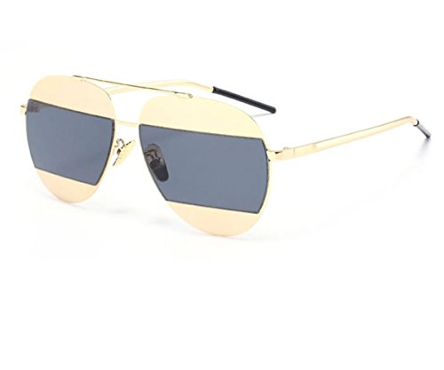 Konalla Personalized Bicolor Avaitor Anti-UV Unisex Sunglasses - Sunglasses Knockoff