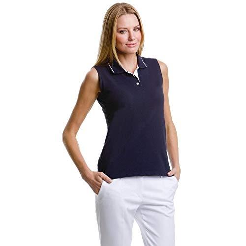 Donna Maniche Senza Gamergear Navy Blu Bianco Polo qE7wwangt