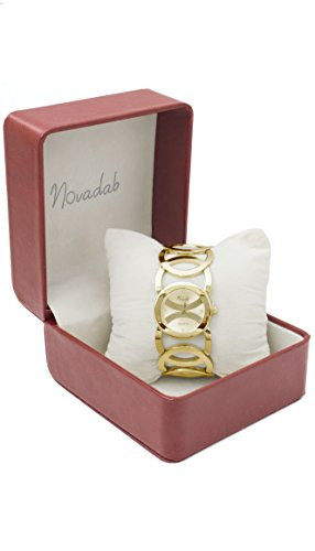 Novadab Immortal Love Accent Loop Bracelet Watch, Wrist Watches for Ladies (Gold) by NOVADAB (Image #1)