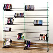 TransDeco Glass Multimedia CD/DVD Rack for 792 CD 552 DVD, Clear by TransDeco (Image #1)