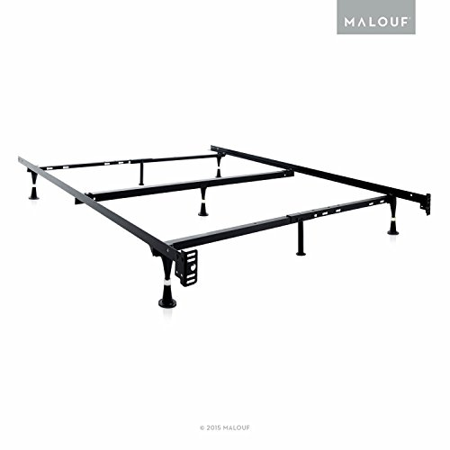 STRUCTURES Heavy Duty Adjustable Metal Bed Frame with 7 Legs, Center Support and Glides Only - (Queen, Full XL, Full, Twin XL, Twin)
