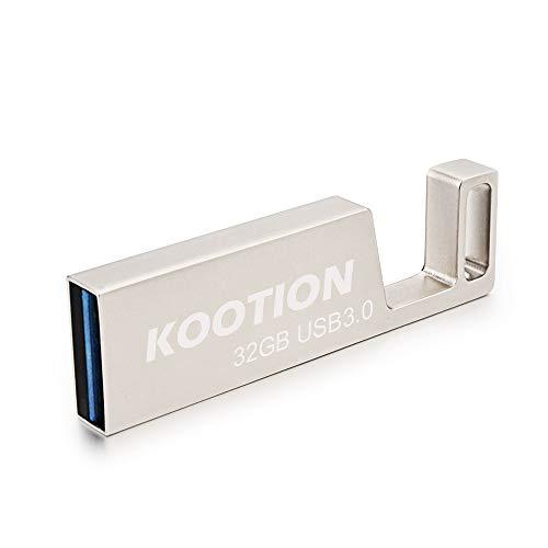 (KOOTION 32 GB Waterproof Metal USB 3.0 Flash Drive 32GB Thumb Drive Phone Stand Keychain Design)