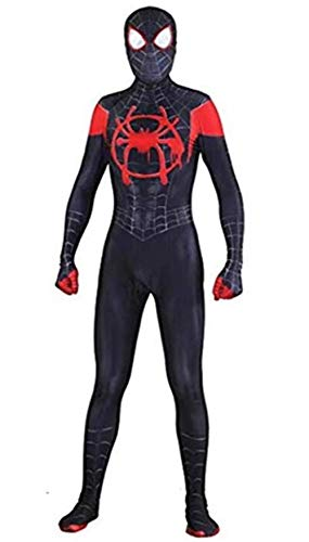 New Costumes For Halloween (Unisex Lycra Spandex Halloween New into The Spider Verse Miles Morales Cosplay Costumes Adult/Kids 3D Style (Mens-XXL,)