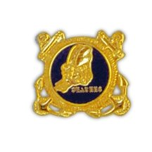 United States Navy Seabees with Frame Lapel Pin