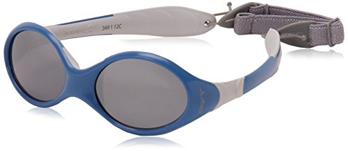 Julbo Looping III Toddler Sunglasses, Spectron 4 Baby Lens, Blue/Grey Frame with Cord, 2-4 - 4 Category Sunglasses