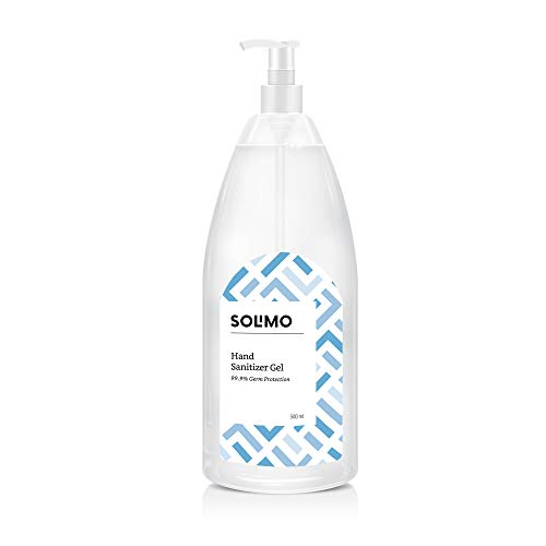 Amazon Brand – Solimo Hand Sanitizer Gel (72% Isopropyl Alcohol) – 500 ml