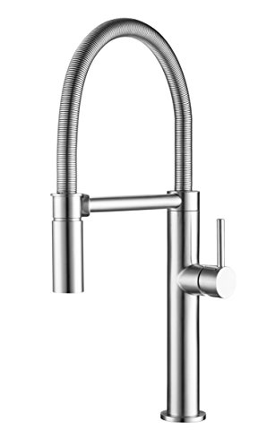 Franke FFPD4350 Pescara Single Handle Pull-Down Kitchen Faucet with Magnetic Sprayer Dock, 21.625 inch Ultra-Tall high arc, Stainless Steel