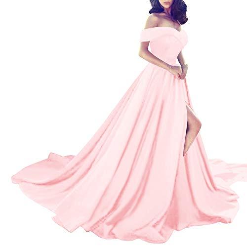 Blushing Dress Women's Shoulder Off Pink Split Lace up Bess Bridal Prom High Evening w8Bqa5PTW
