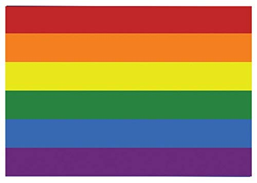 hiusan 2 X Gay Pride Flag Rainbow Car Window Wall Sticker La