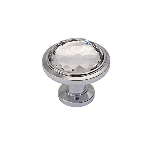 Atlas Round Knobs - Atlas Homewares 343-CH Legacy Crystal Round Knob, Polished Chrome
