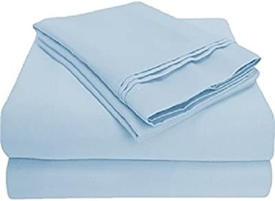 Blue//Light Blue Solid All Bedding Sets Item Choose Size /& Item 1000 Thread Count