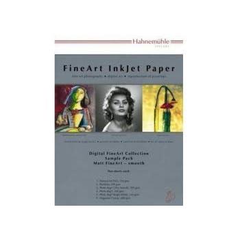 "Hahnemuhle Matte Fine Art Smooth Archival Inkjet Paper Sample Pack, 8.5x11"", 14 Sheets"