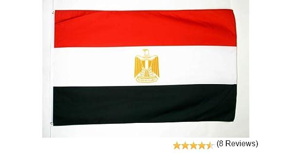 AZ FLAG Bandera de Egipto 90x60cm - Bandera EGIPCIA 60 x 90 cm: Amazon.es: Jardín