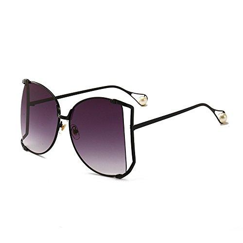 sol de sol de de de Ceniza de océano Gafas personalizadas las la Shop Hoja del Doble de 6 gafas de Gafas sol señoras perla gafas del sol ajuste wF7WUqXx