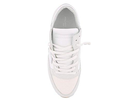 Sneaker Trld Philippe Bianca In Donna Model Tropez Colore E Pelle Tela 5001 Modello ZqOEq