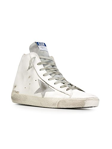 Golden Goose Homme GCOMS591G3 Blanc Cuir Baskets Montantes