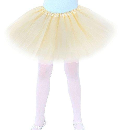 Girls Tutu Children's 4 Layered Tulle Princess Ballerina Dance Skirt
