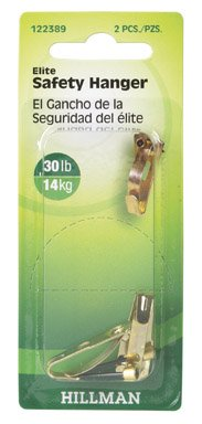 Hillman 122389 Elite Safety Picture Hanger, 30 Lbs. (Pack of 10)