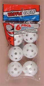 Wiffle Practice Golf Balls - 6 Pack by Wiffle Ball Inc.