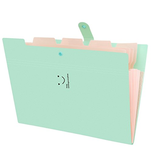 1617 Trading YILUYIQI EU Portable Accordion Expanding File Folder 5 Pockets, Expanding A4 and Letter Size File Organizer…