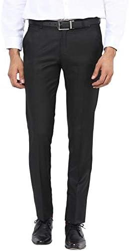 BUkkL Men's Slim Fit Formal Trousers