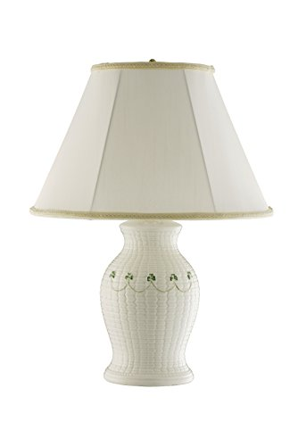 Belleek Pottery Checkered Braid Lamp and (Braid Lamp)
