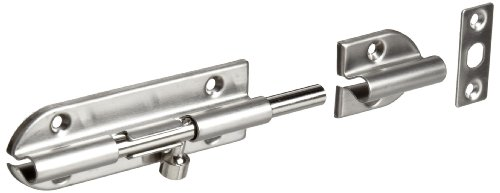 Sugatsune Barrel Bolt - Stainless Steel 304 Barrel Bolt, Satin Finish, Non Locking, 3-35/64