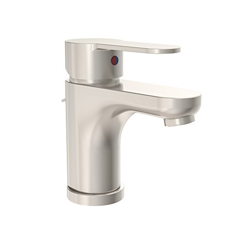 Symmons Identity One-Handle Single Hole Bathroom Faucet with Pop-Up Drain & Lift Rod, Satin Nickel (SLS-6712-STN-1.5) from Symmons