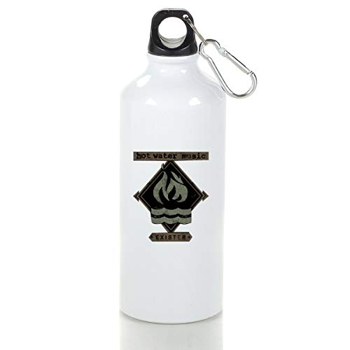 LuckyTagy Hot Water Music Exister Aluminum Outdoor Sports Bottle Perfect for Travel - Exister Music Hot Water