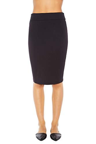 Rohb by Joyce Azria Riviera Straight Pencil Tube Skirt (Black) Size M