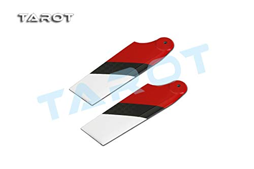 Yoton Accessories 450 PRO CF Tail Blade / Red&White ()