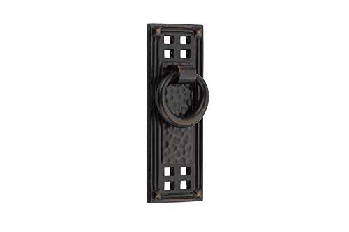 Emtek 86042 Hammered Vertical Ring Pull Available in 3 finishes (Oil Rubbed Bronze (US10B)) ()