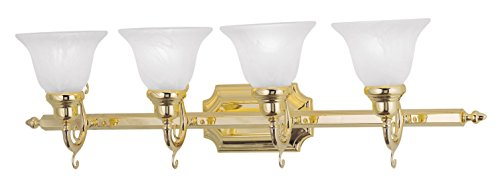 Bath 02 Brass Polished - Livex Lighting 1284-02 French Regency 4-Light Bath Light, Polished Brass