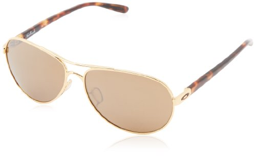 Oakley Feedback Non-Polarized Iridium Aviator Sunglasses,Polished Gold,59 - Aviator Oakley Sunglasses