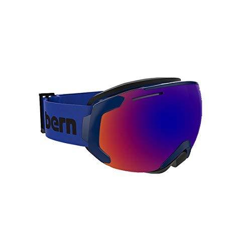 BERN Helmets Jackson M Navy Blue (Blue/Purple&Yllw/Blue Lens) (Bern Yellow Helmet)