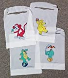 Disposable Child's Poly Bib Bears and Ballons (Case of 500)