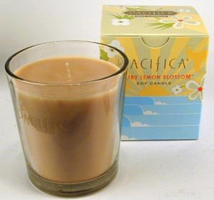 Pacifica Malibu Lemon Blossom 10.5 oz Soy Boxed Glass Candle ()