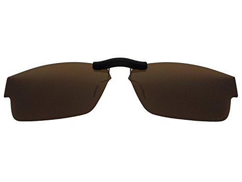 Custom Fit Polarized CLIP-ON Sunglasses For Oakley Airdrop (55) OX8046 55X18 Brown (Sunglasses Custom Fit)