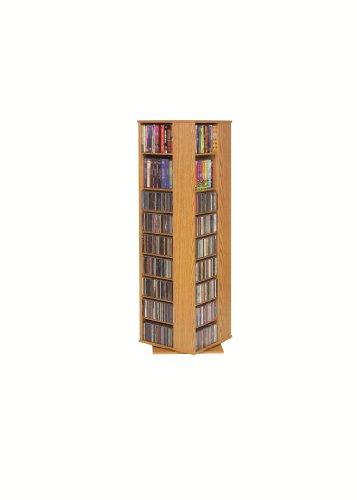 LDE LESLIE DAME High Capacity Spinning Multimedia Tower Oak