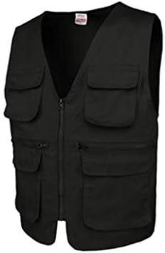 メンズアウトドア春、夏と秋の薄いセクションベスト写真釣り綿マルチポケット中年男性のベストツーリングベスト (色 : ブラック, サイズ さいず : S s)