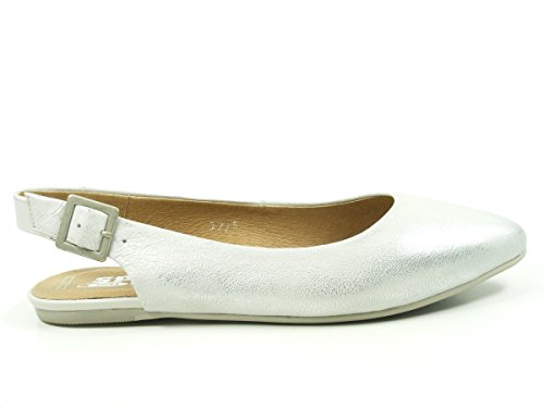 SPM 16965524 Jellyfish Sandalias Fashion de Cuero Mujer Silber