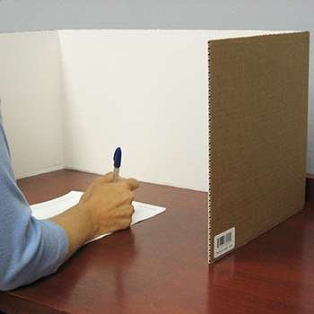 Corrugated Study Carrel White 24Pk By (Corrugated Study Carrel)