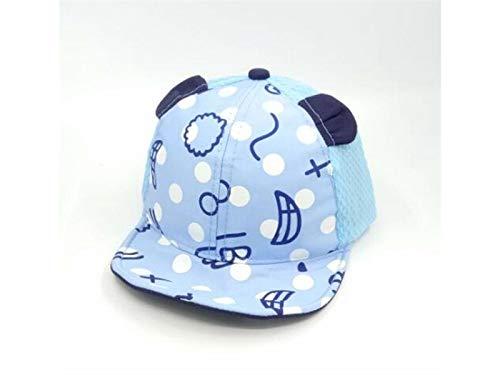 Color : Azul, tama/ño : 45-49cm Pink Young shinee Sombrero de los ni/ños Ear Palm Printed Toddler Mesh Cap Beb/é Protecci/ón Solar Gorra de b/éisbol Sun Visor por 6-24 Meses Gorra para ni/ños peque/ños