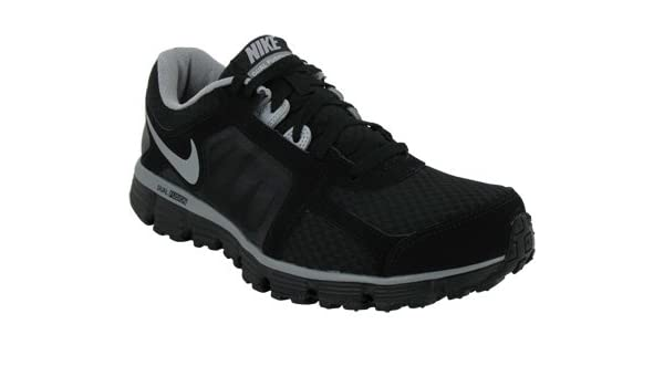 super popular 1da7f 562c5 Amazon.com   Nike Men s NIKE DUAL FUSION ST 2 RUNNING SHOES 11  (BLACK METALLIC SILVER)   Athletic