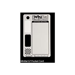 GENUINE WhiBal G7 Certified Neutral White Balance Card - Pocket Card (2.1\